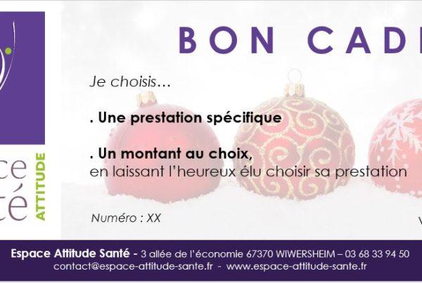 Bon Cadeau Espace Attitude Santé